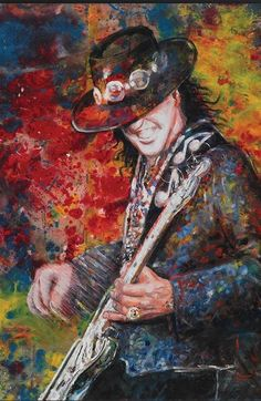 Artist Tom Noll created giclee prints from original canvas oil painting portrait of Stevie Ray Vaughan In-progress painting photos shown in art studio Rock N Roll Baby, Rock And Roll, Stevie Ray Vaughan, Buddy Guy, Music Artwork, Art Music, Guitar Art, Guitar Chords, Blues Music