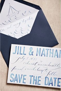 great nautical Save the Dates... just look at that envelope!!!