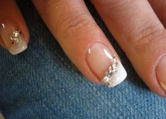Wedding nails....but I like this idea only for an accent nail