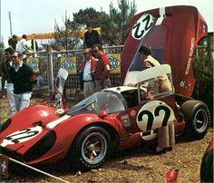 Jean Guichet / Herbert Müller - Ferrari 412 P Scuderia Filipinetti - 24 Heures du Mans - International Manufacturers Championship : Prototypes Unlimited, round 7, Challenge Mondial, round 4