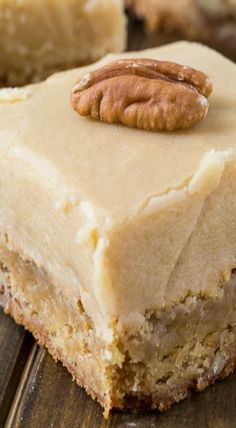 Cakes Puddings Trifles Cobblers etc. Note: Pies Cupcakes Cookies Bars & Candy posted on separate boards Cookie Brownie Bars, Cookie Desserts, Just Desserts, Delicious Desserts, Butterscotch Blondie Recipe, Butterscotch Blondies, Brownie Recipes, Cookie Recipes, Dessert Recipes