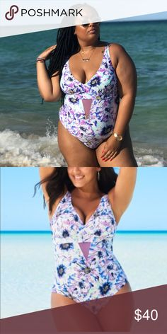 Floral one piece Floral one piece. Size 2x. Great support. Worn once in perfect condition adore me Swim One Pieces