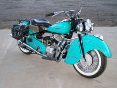 Turquoise Indian Rebuilt by Jeff Grigsby Indian Motor Works near Bayfield CO