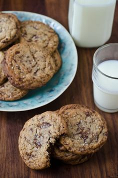 blissful eats with tina jeffers: Brown butter chocolate chunk cookies