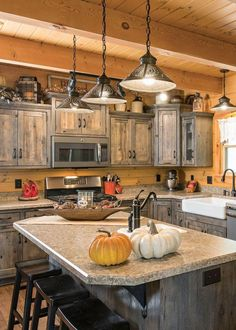Uplifting Kitchen Remodeling Choosing Your New Kitchen Cabinets Ideas. Delightful Kitchen Remodeling Choosing Your New Kitchen Cabinets Ideas. Two Tone Kitchen Cabinets, Rustic Kitchen Cabinets, Refacing Kitchen Cabinets, Painting Kitchen Cabinets, Kitchen Decor, Kitchen Ideas, Kitchen Counters, Rustic Hickory Cabinets, Kitchen Rustic
