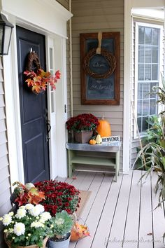 Classic Fall Outdoor Decorating by Finding Homes Farms