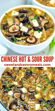 Chinese Soup Recipes, Asian Recipes, Chinese Meals, Sweet And Sour Soup, Bisque Recipe, Spicy Soup, Soup Appetizers, Asian Soup, Asian Cooking
