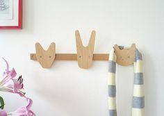Colgadores con formas de animales para la habitación infantil
