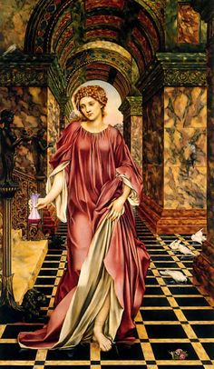 "Evelyn De Morgan's (1855-1919) painting ""Medea"" (1889, Williamson Art Gallery & Museum, Birkenhead) depicts Medea's persona as a temptress with her skirt slightly lifted and as a witch holding a vial of poison in her hand.   #Medea #Personae #Greece #AncientAthens #Greek Mythology #JasonandMedea #Argonautica #ApolloniusofRhodes #Euripides #EvelynDeMorgan #FrederickSandys #PreRaphaeliteBrotherhood #Poem #Play #Painting #Art Photo credit: Wikipedia"