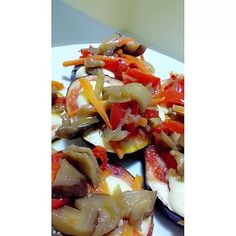 Eggplant made by me. Healthy dinner!