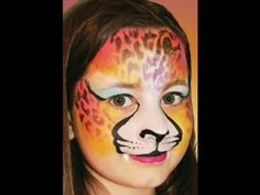 Cheetah Face Paint Design Video Tutorial