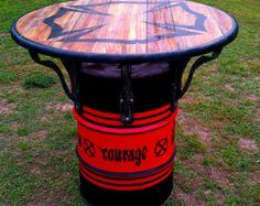 firemans values pub/man cave drum table #32