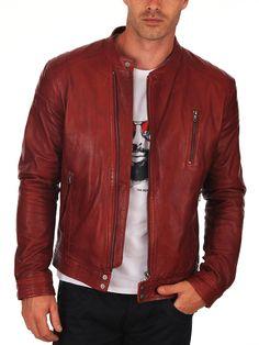 Faam Collection Stylo Lambskin Leather Biker Jacket for Men