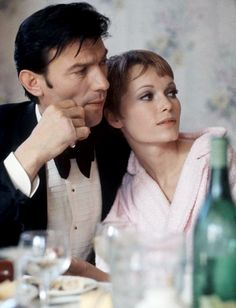 "Laurence Harvey & Mia Farrow in ""A Dandy in Aspic,"" (1968)"
