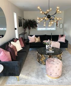 to Know More About Glam Living Room Apartment Interior Design? - athomebyte decor apartment glam To Know More About Glam Living Room Apartment Interior Design 119 - athomebyte Glam Living Room, Living Room Modern, Living Room Designs, Living Room Decor, Bedroom Decor, Small Living, Black Living Room Furniture, Cozy Living, Black Couch Decor