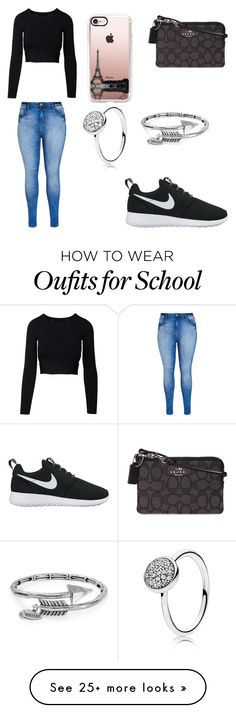 """HIGH SCHOOL STYLE"" by mgarcia-iii on Polyvore featuring City Chic, Alex and Ani, Pandora, Coach, NIKE and Casetify"
