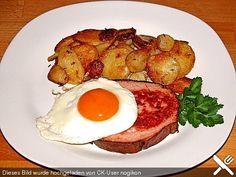 Leberkäse mit Bratkartoffeln und Spiegelei, ein gutes Rezept aus der Kategorie Eier. Bewertungen: 10. Durchschnitt: Ø 3,6.