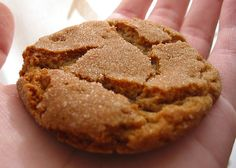 Christmas homemade Ginger Snap Cookies #recipe #christmas