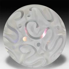 By Sylvia Fama 2013 Abstract Swirls Cut-out Art-Glass Paperweight… Glass Ball, Cut Glass, Stained Glass Tattoo, Cut Out Art, Marble Art, Glass Marbles, Glass Paperweights, Glass Globe, Lampwork Beads