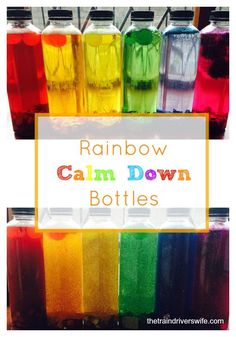 Calm down bottles are a great little tool to use during time outs or for quiet time. They can also be used to settle an anxious child. Your toddler or child shakes the bottle vigorously and then watches the bottle until the glitter settles, giving them a moment to relax and and calm down.