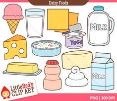 dairy foods clip art
