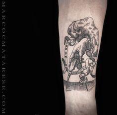 Tattoo black line style Marco C. Matarese Milan