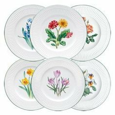 Mikasa Italian Countryside 6 Piece Accent Plate Set by Mikasa. $64.99. The fluted bands of this dinnerware and column-like detailing recall classical Italian architecture. Each of the 6 accent plates has a different flower that emphasizes the beauty of nature. Bring this same beauty to your table. A complete suite of accessories to create a classically stylish casual dining statement. Distinctly beautiful design of scrolls and fluting. Perfect for casual enter...