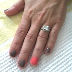 Rubble CND Shellac with Tropix CND Shellac on ring fingers! <3
