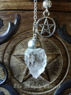 Pendulum. Raw Crystal Quartz, Divination Tool, Pendulum, Crystal Pendulum, Witchcraft Tool, Quartz Crystal, Spiritual Supply, Scrying #3