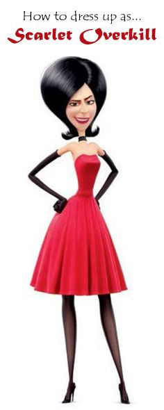 How to dress up as Scarlet Overkill!  The new Minions movie is coming!! The next villain Scarlet Overkill is going to be a hit costume at your next dress up party! It really helps that she has such a sassy style!