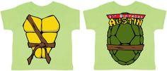 Color Custom Ninja Turtle Birthday Shirt by CheaperThanShirt, $15.00