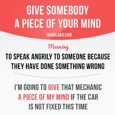 """""""Give somebody a piece of your mind"""" -           Learn and improve your English language with our FREE Classes. Call Karen Luceti  410-443-1163  or email kluceti@chesapeake.edu to register for classes.  Eastern Shore of Maryland.  Chesapeake College Adult Education Program. www.chesapeake.edu/esl."""