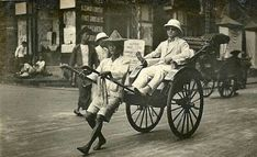 Rickshaw in Hong Kong (year unknown). 🌏