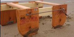 Un #barchino in legno sul prototipo del barchino da tempesta di Cippalippa