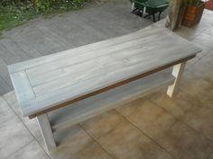 Table basse en bois recyclé, 150 x 50 cm, hauteur 45 cm