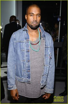 ffaa132e315fc5 Kanye West wearing a Levi s trucker jacket to the 2013 VMAs. Kanye West  Tour