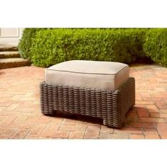 Brown Jordan Northshore Patio Ottoman in Harvest -- STOCK DY6061-O at The Home Depot - Mobile
