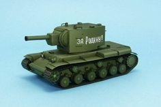 WWII KV-2 Heavy Tank Ver.2 Free Paper Model Download…
