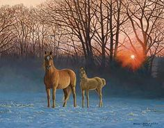 'Winter Dawn' by Persis Clayton Weirs Original Paintings