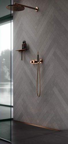 22 ideas bathroom shower tile grey herringbone pattern for 2019 - Modern Diy Bathroom, Grey Bathrooms, Bathroom Colors, Bathroom Flooring, Bathroom Interior, Modern Bathroom, Small Bathroom, Bathroom Ideas, Bathroom Furniture