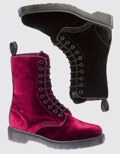 More Composition Please: VELVET DOC MARTENS... Oooh: the pink... gorgeous!