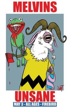 firebirdstl:  Melvins + Unsane, 5/3/12 Poster by JERT