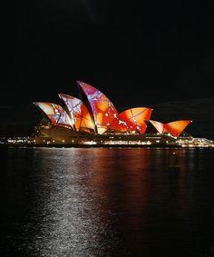 """Luminous"" by Brian Eno in Sydney, Australia  The musical event titled ""Luminous"" by Brian Eno, is projected onto the Sydney Opera House as part of the Vivid Festival in Sydney, Australia"