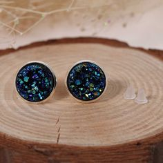 Doreen Box Copper Ear Post Stud Earrings Round Royal Blue AB Color W/ Stoppers Fashion Jewelry Gift x Pair 2017 new, Mint Earrings, Fringe Earrings, Round Earrings, Jewelry Gifts, Jewelry Accessories, Pendant Jewelry, Fashion Jewelry, Crystals, Royal Blue
