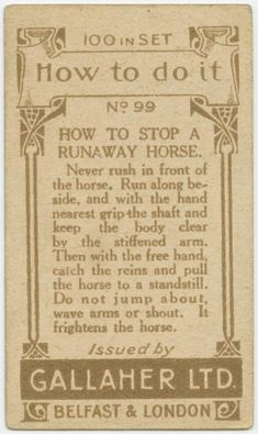 How To Stop A Runaway Horse | Here Are 40 Retro Life Hacks You Can Still Use Today