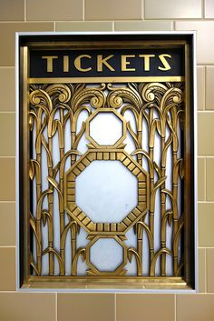 Art Deco ticket window