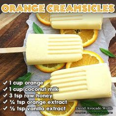 Orange dreamscicles with other sweetener
