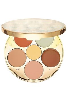This color-correcting palette might be my favorite of the bunch. I personally use the brown, green, and salmon shades most (for contouring, redness-reducing, and undereye-bag-erasing, respectively); the different hues can be mixed to create the perfect shades for you. Plus, each cream has a lovely, smooth texture that's super easy to blend. Tarte Rainforest Of The Sea Wipeout Color-Correcting Palette, $45, available Februaty 29 at Sephora. #refinery29…