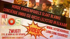 *VIDEO* Horde kansenparels slaat blanke conciërge VMBO ISG Arcus Lelystad in elkaar en het boeit @SylvanaSimons niks - Liefde voor Holland