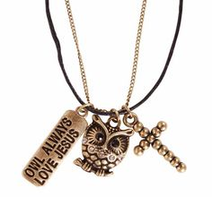 Owl Always Love Jesus Charm Necklace.  Someone PLEASE buy me this ❤❤